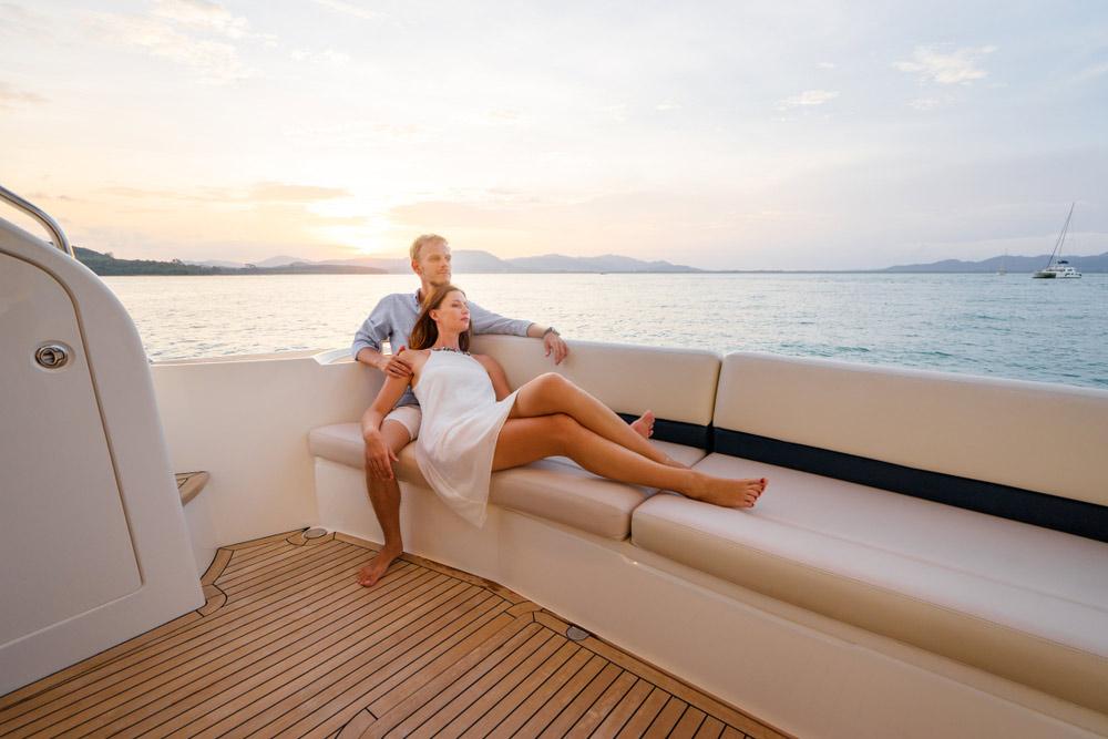 Luxury Lifestyle, Couple on Yacht